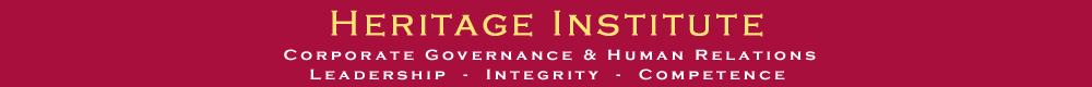 Heritage Institute Corporate Governance and Human Relations