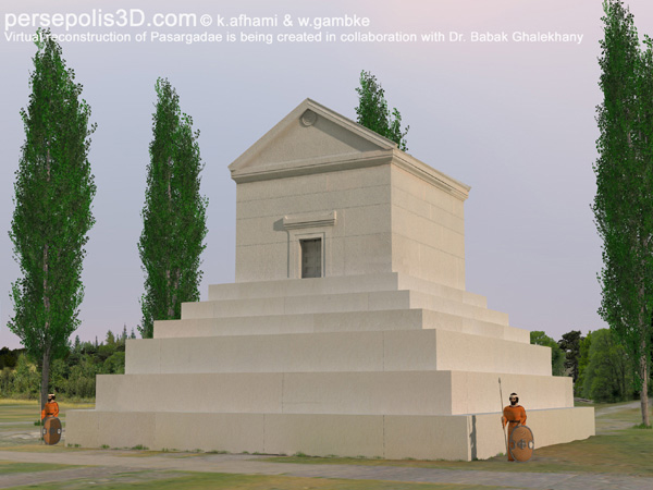 Reconstruction image of the tomb of Cyrus the Great