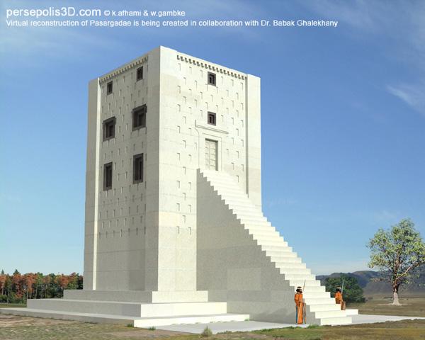 Image reconstrução do túmulo de Cambises II