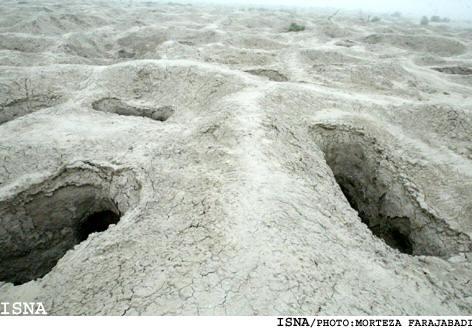 Los agujeros de excavación ilegales