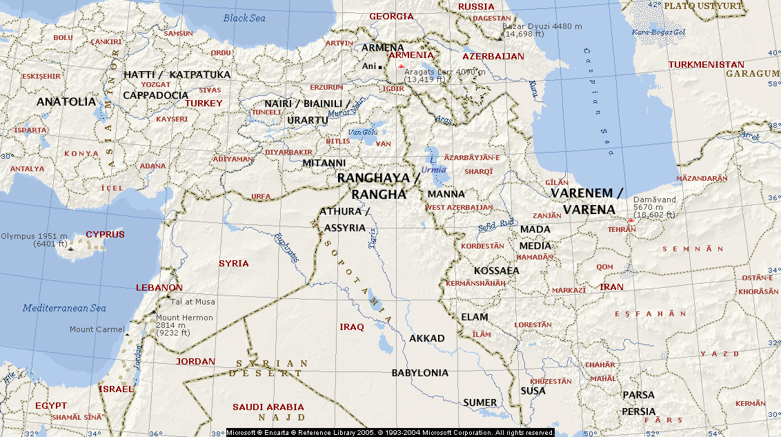 Middle East  Ancient Map