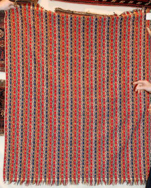 Kermani Shawl with a stripped design