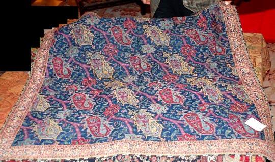 Antique Kermani woven shawl c 1750 CE