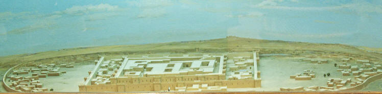 Reconstruction of the Gonur north citadel at National Museum of Turkmenistan
