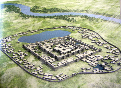 Artist's reconstruction of the Gonur north complex