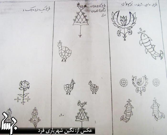 Yazdi Zartoshti doozi (needle-work) patterns