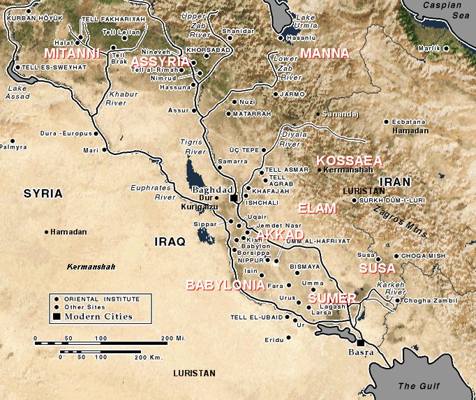 Ancient mesopotamia middle east region map ancient mesopotamia middle east region gumiabroncs Gallery