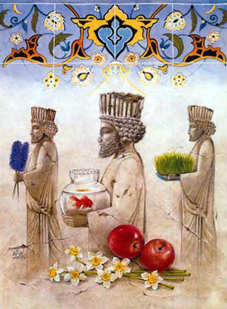 Norooz nawruz noruz no ruz nowruz page 1 zoroastrian new year ancient motifs in a nowruz collage m4hsunfo